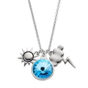 Sun & Storm Cloud Blue Swarovski Crystal Necklace